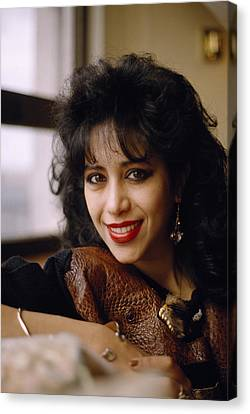 Portrait Of Ofra Haza Canvas Print by Shaun Higson