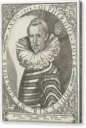 Portrait Of Olpherdus Fuyck Olfert Fuchs Canvas Print