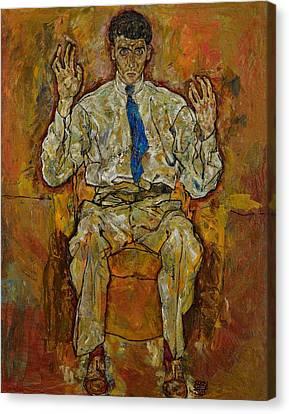 Portrait Of Paris Von Gutersloh Canvas Print by Egon Schiele