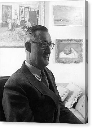 Portrait Of Paul Mellon Canvas Print by Horst P. Horst