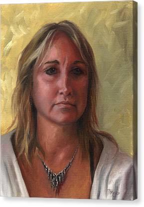 Portrait Of Paula Canvas Print by Terri  Meyer