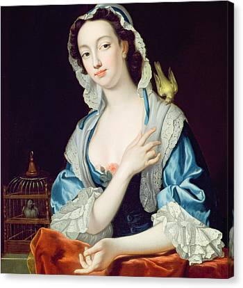 Canary Canvas Print - Portrait Of Peg Woffington by Jean-Baptiste van Loo