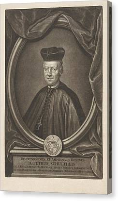 Family Crest Canvas Print - Portrait Of Peter Schultheis, Gerard Valck by Gerard Valck