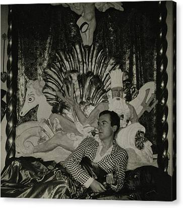 Portrait Of Photographer Cecil Beaton Canvas Print by George Hoyningen-Huene