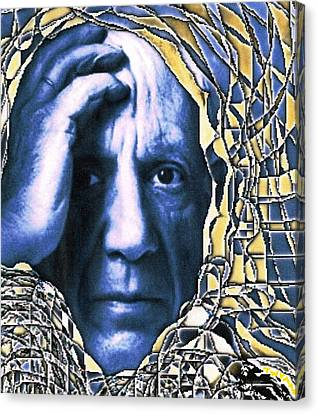 Portrait Of Picasso Canvas Print by Dan Twyman