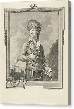 Portrait Of Pierre Le Turcq, Pieter Willem Van Megen Canvas Print by Pieter Willem Van Megen