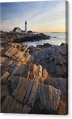 Portrait Of Portland Head Canvas Print by Eric Gendron