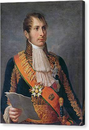 Portrait Of Prince Eugene De Beauharnais 1781-1824 Viceroy Of Italy And Duke Of Leuchtenberg Canvas Print by French School