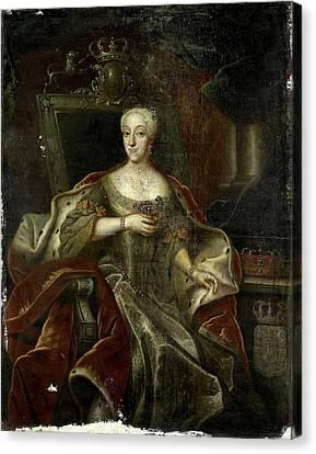 Portrait Of Princess Charlotte Amalie, Daughter Canvas Print