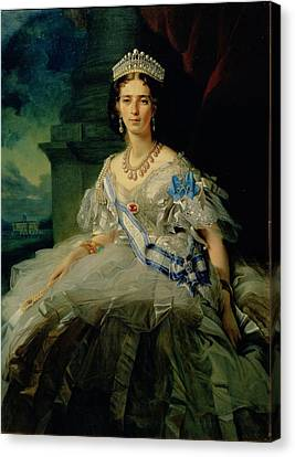 Portrait Of Princess Tatiana Alexanrovna Yusupova, 1858 Oil On Canvas Canvas Print