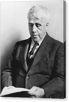 Portrait Of Robert Frost Canvas Print