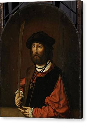 Portrait Of Ruben Parduyn, Knight Of The Holy Sepulchre Canvas Print by Litz Collection