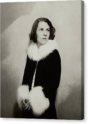 Portrait Of Ruth Gordon Canvas Print
