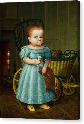 Portrait Of Sally Puffer Sanderson Canvas Print
