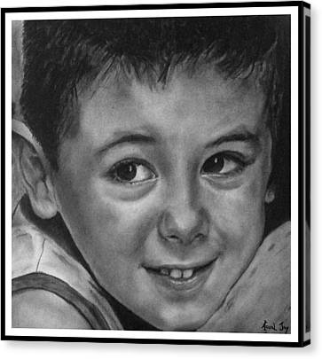 Hyperrealistic Canvas Print - Portrait Of Samuel by Arual Jay