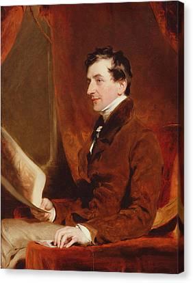 Portrait Of Samuel Woodburn, C.1820 Canvas Print by Sir Thomas Lawrence