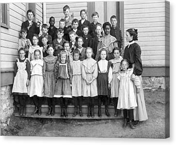 Portrait Of School Children Canvas Print by Underwood Archives