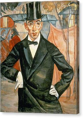 Portrait Of Sherling, From The Cycle Of Portraits Called The Face Of Russia, 1900 Oil On Canvas Canvas Print by Boris Dmitrievich Grigoriev