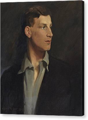 Half-length Canvas Print - Portrait Of Siegfried Sassoon 1917 by Glyn Warren Philpot