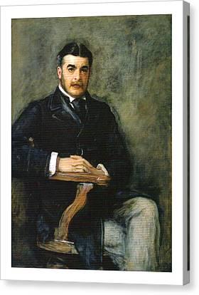 Portrait Of Sir Arthur Seymour Sullivan Canvas Print by Celestial Images