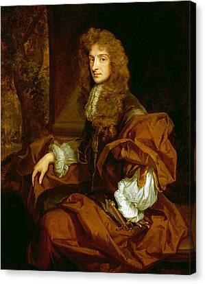Portrait Of Sir Charles Sedley 1687 Canvas Print by Sir Godfrey Kneller
