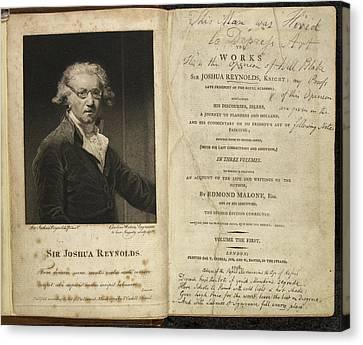 Edition Canvas Print - Portrait Of Sir Joshua Reynolds. by British Library