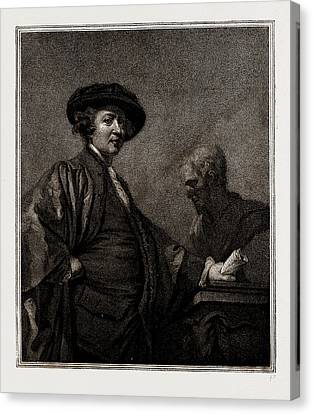 Portrait Of Sir Joshua Reynolds, Painted By Himself Canvas Print