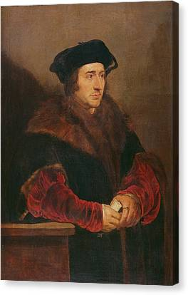 Portrait Of Sir Thomas More Oil On Canvas Canvas Print by Peter Paul Rubens