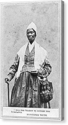 Abolitionist Canvas Print - Portrait Of Sojourner Truth by Underwood Archives