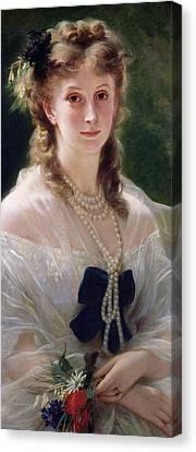 Portrait Of Sophie Troubetskoy  Canvas Print by Franz Xaver Winterhalter