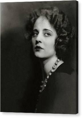 Portrait Of Tallulah Bankhead Canvas Print by Maurice Goldberg