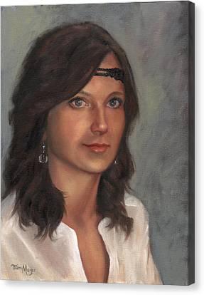 Portrait Of Taylor I Canvas Print by Terri  Meyer