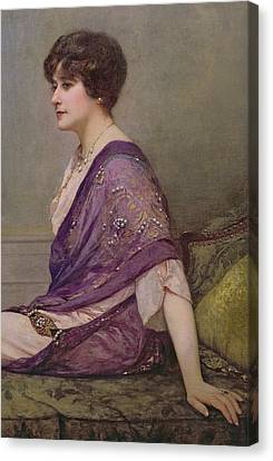 Portrait Of Th Ecourturier Madame Paquin Canvas Print