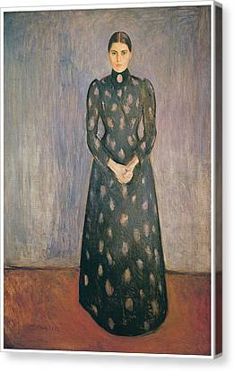 Portrait Of The Artist's Sister Inger Canvas Print