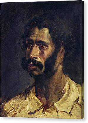 Portrait Of The Carpenter Of The Medusa, C.1812 Oil On Canvas Canvas Print by Theodore Gericault