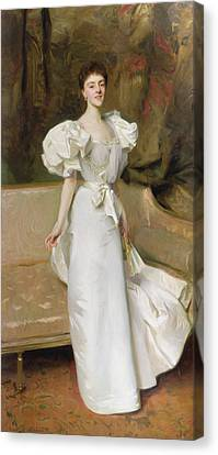 Youthful Canvas Print - Portrait Of The Countess Of Clary Aldringen by John Singer Sargent