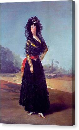 Portrait Of The Duchess Of Alba Canvas Print by Francisco Goya