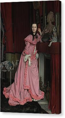 Portrait Of The Marquise De Miramon, Née Canvas Print by Litz Collection