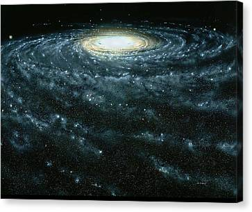 Dc Universe Canvas Print - Portrait Of The Milky Way Galaxy by Jon  Lomberg