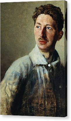 Portrait Of The Poet Sergey Gorodetsky Canvas Print by Ivan Kirillovich Parkhomenko