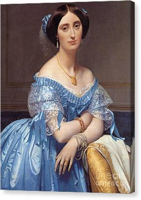 Portrait Of The Princesse De Broglie Canvas Print