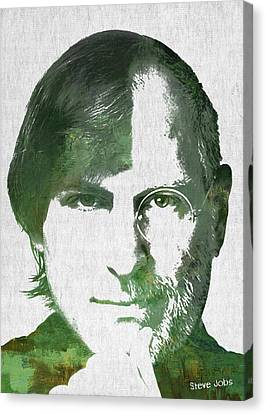 Portrait Of The Young And Old Steve Jobs  Canvas Print by Aged Pixel