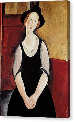 Portrait Of Thora Klinchlowstrom Canvas Print by Amedeo Modigliani