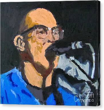Portrait Of Tom Beyer Canvas Print by Greg Mason Burns