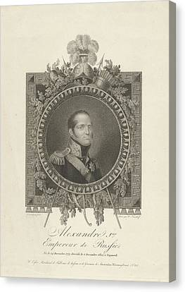 Portrait Of Tsar Alexander I Of Russia, Walraad Nieuwhoff Canvas Print