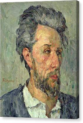 Portrait Of Victor Chocquet, 1876-77 Oil On Canvas Canvas Print by Paul Cezanne