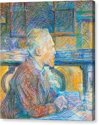 Portrait Of Vincent Van Gogh Canvas Print