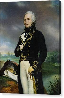 Portrait Of Viscount Alexandre-francois-marie De Beauharnais 1760-94 After A Painting By J. Guerin Canvas Print