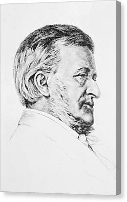 Portrait Of Wagner Canvas Print by Anonymous