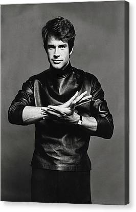 Young Man Canvas Print - Portrait Of Warren Beatty by Jack Robinson